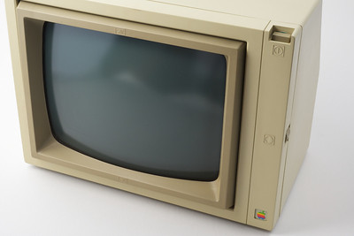 Apple ][ pictures. Apple Monochrome Monitor.