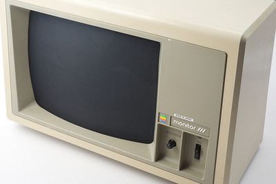 Apple ][ pictures. Monitor ///, that can be used on the Apple ][, of course.