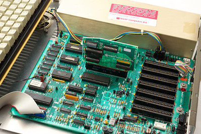 Apple ][ pictures. Apple //e rev. B motherboard and an AIIE 80COL card.
