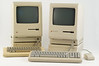 Apple Macintosh 512K (1984) with its HD20 (serial) hard drive and Apple Macintosh Plus (1986) with its HD20SC (SCSI) hard drive.<br /> DSC_5113