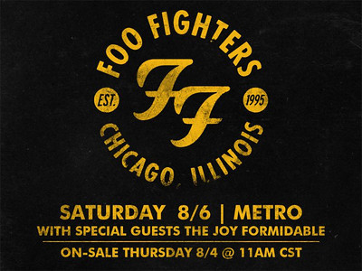Foo Fighters live at Metro in Chicago 08/06/2011