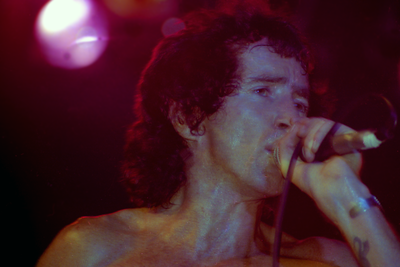 Bon Scott of AC/DC, Cumberland County Auditorium, Fayetteville, NC 1978