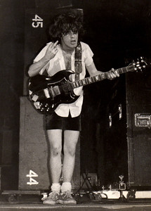 Angus Young, AC/DC, Greensboro Coliseum, Greensboro, NC 1977