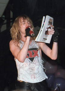 Steve Whiteman of Kix / The Attic in Greenville, NC / 1985