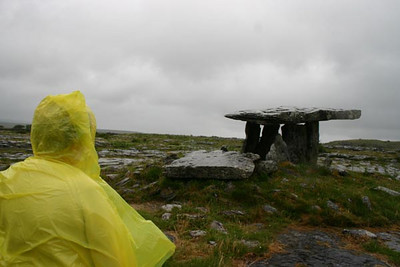 21st Century Druid and Ancient Dolman, the Burren
