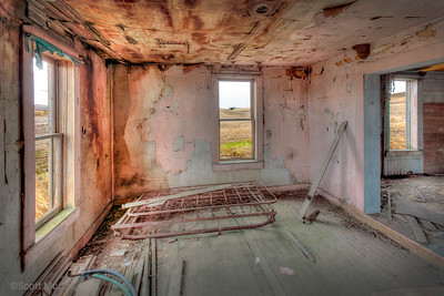 This old abandoned farm house was showing it's wear. I stepped in the missing front door to take a few images.  I hope to come back some day under different weather conditions.