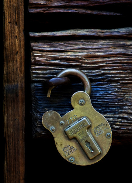 Brass Lock at Land Between The Lakes - Kentucky/Tennessee