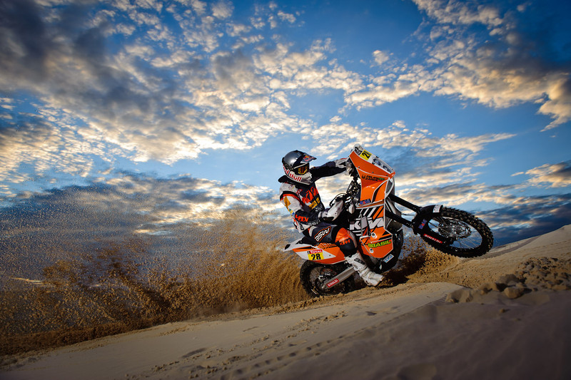 Felipe Zanol training for Dakar Rally at  the dunes of Ibiraquera, in Imbituba, Brazil on december 16th, 2011