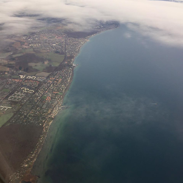 View from plane into Copenhagen