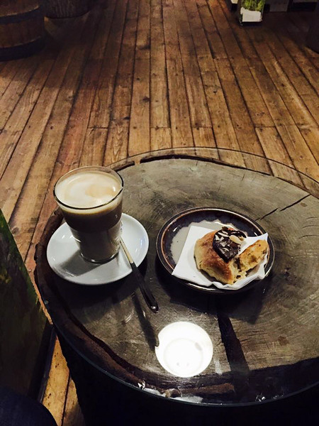 Morning coffee and pastry, Copenhagen