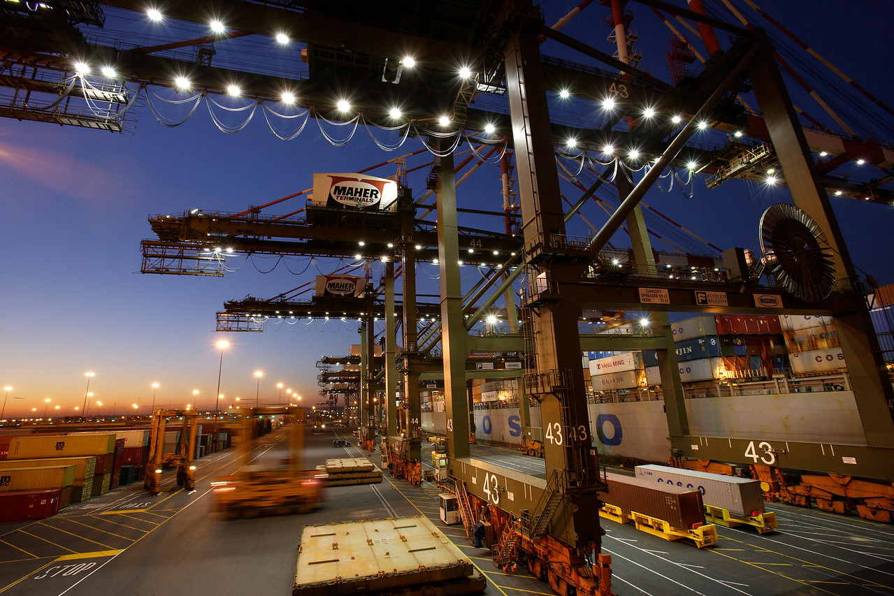 Container Yard Loading Cranes