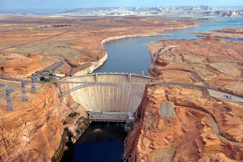 Glen Canyon Dam, Lake Powell, Page, Arizona