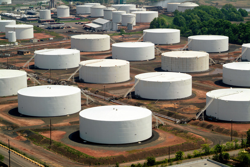 Tank Farm Aerial, Linden, New Jersey