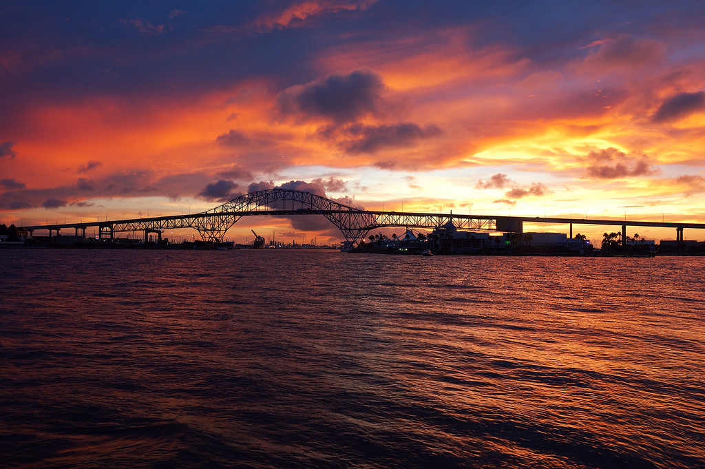 """Sunset Bridge <I>This Photo can be purchased by clicking the"""" Buy"""" button above.  Most sizes are available.<I/>"""