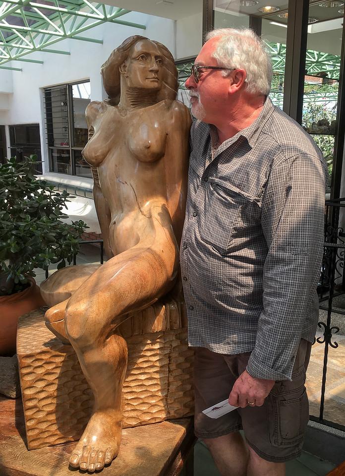 Hotel Bougainvillea  Scott meets the hotel greeter