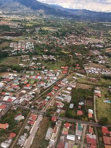 Our flight to San Jos'e Costa Rica