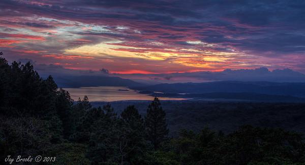 Sunset over Lake Arenal