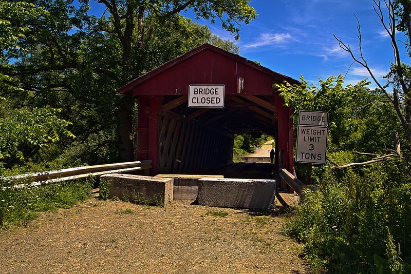 Covered bridge in Waterford, Penn.
