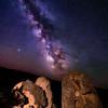 Desert Night Photography of Oolite bolder near Grandview Idaho
