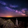 Shoo Fly cemetery tomb stone with milky way