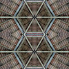 Planet 13 b) start frame<br /> American Bandstand Planet, variation 3<br /> Two versions of the reconstructed (for symmetry purposes) 8x4 inch center secion of the bandstand ceiling, stacked one on top of the other.