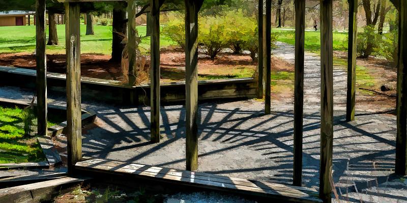 Photomerge of Perennial Garden Gazebo - filtered version
