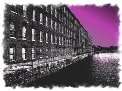 Mill buildings in Lowell.