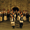 Folklore dances, Lindo, Dubrovnik....We sat outside within these walls and were treated to a performance by a young group of dancers.