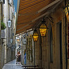 Side street in Dubrovnik...there were many wonderful restaurants from which to choose.