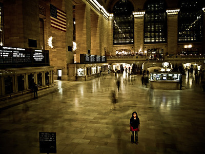Nora in Grand Central Station.