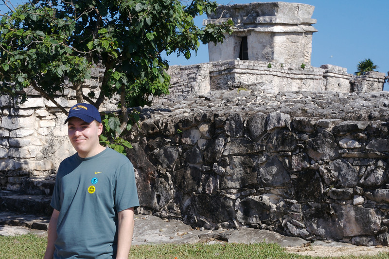 Andy at the Mayan Ruins at Tulum