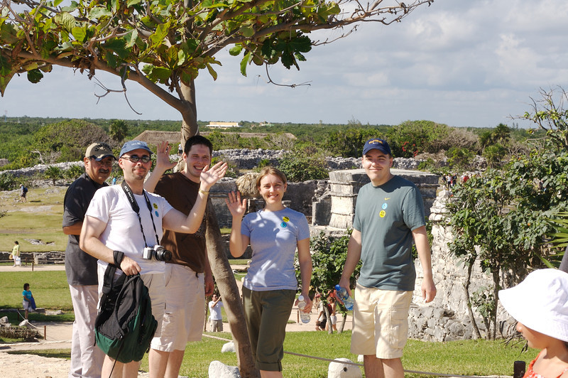 Everyone at the Mayan Ruins at Tulum