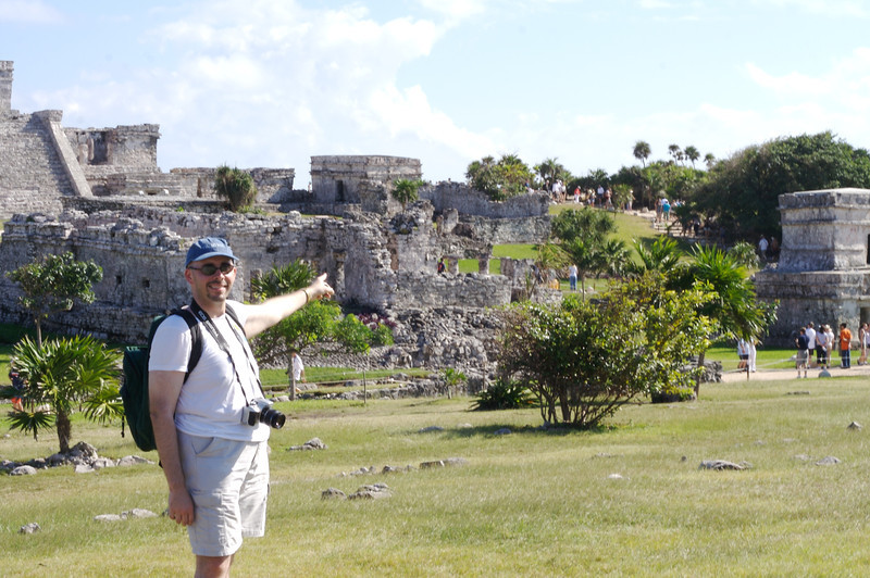 PJ at the Mayan Ruins at Tulum
