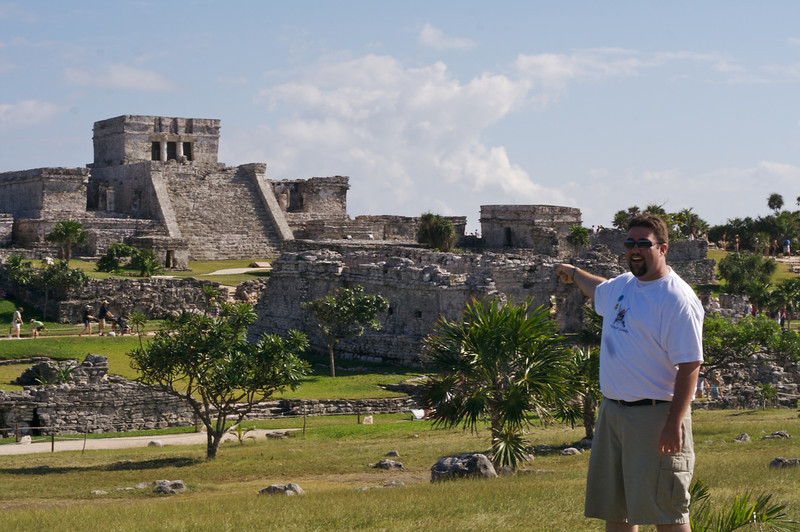 Josh at the Mayan Ruins at Tulum