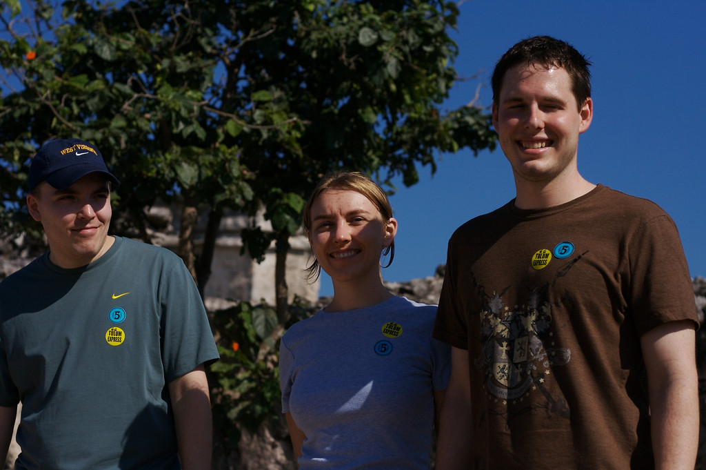 Andy, Stephanie, and Jason at the Mayan Ruins at Tulum
