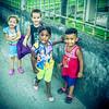Cuban Kids Home From School