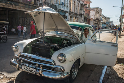 Man and Car, Havana, Cuba