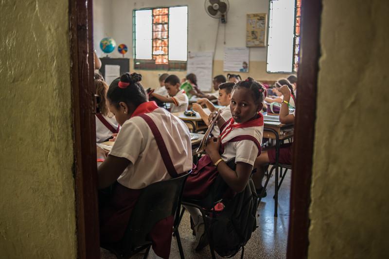 Student in Havana, Cuba