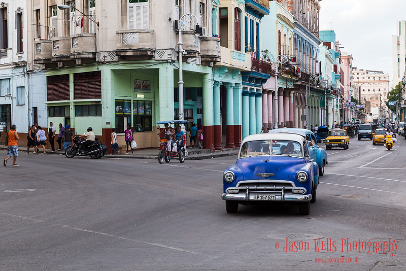 Busy streets of Centro Havana