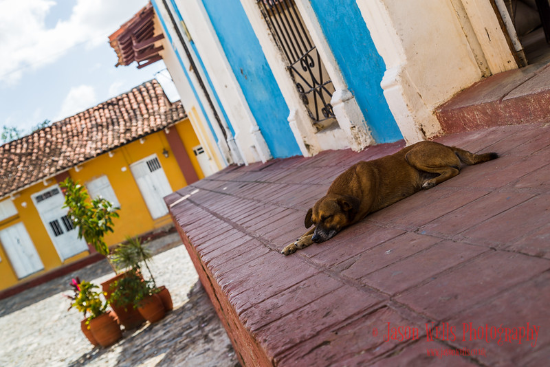 Colourful streets of Sancti Spíritus in central Cuba.