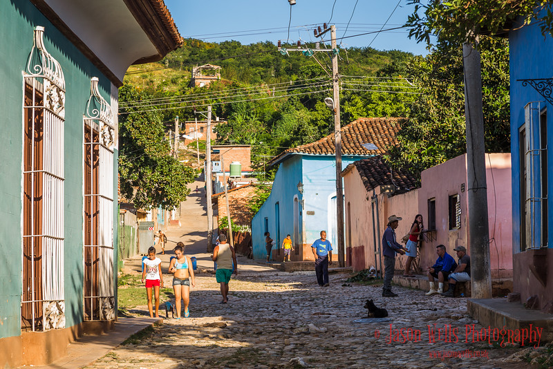Cobbled street in Trinidad