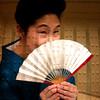 portrait of an aging geisha