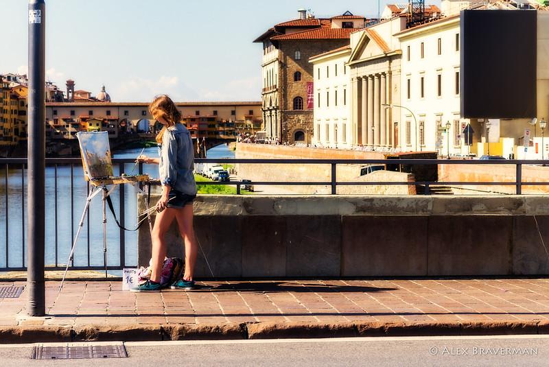 painting Ponte Vecchio
