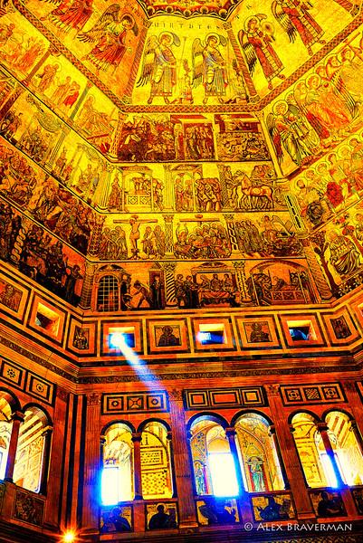 Light inside Baptistry #1
