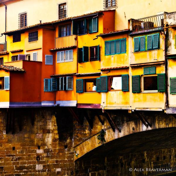 a square fragment of Ponte Vecchio