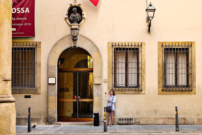 Casa Buonarroti, the entrance