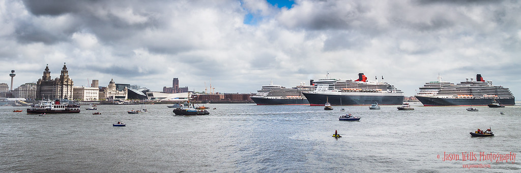 Colour image of the Three Queens in formation.