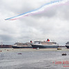 Red Arrows flypast over the Three Queens.
