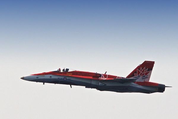 The CF188 Canada 150 Demo Hornet