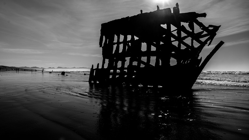 Peter Iredale Black and white